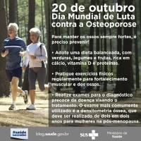 Dia Mundial da Osteoporose: data faz alerta sobre a doença